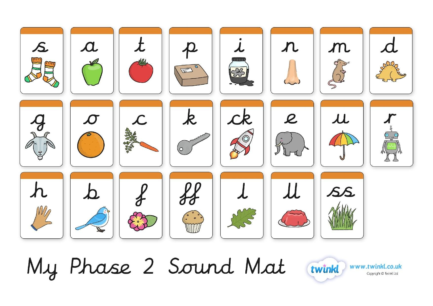 Image result for phonics cursive sound mat