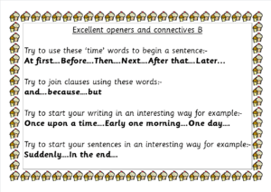 B Connectives and sentence startersb