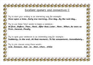 C Connectives and sentence starters