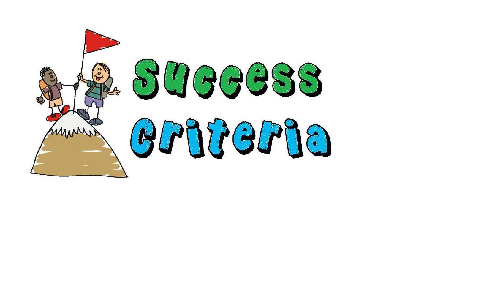 Success Criteria Clipart