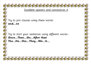 A Connectives and sentence starters