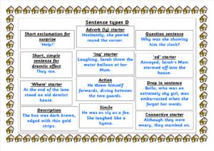 D sentence types