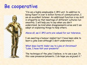 C3PO for Co-operation