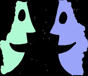 Talk partners clip art image